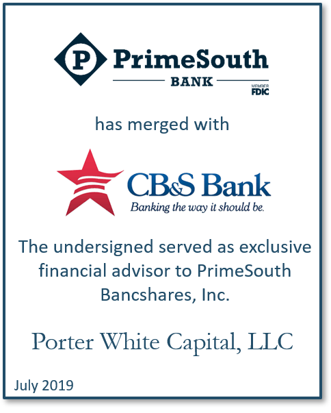 CB&S Bank-PrimeSouth Bank Complete Merger